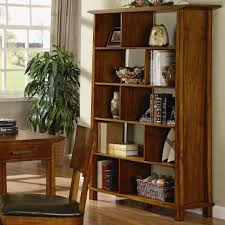 Narrow Mahogany Bookcase by Rustic Unpolished Mahogany Wood Tall Narrow 5 Tier Bookcase Of F