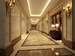 corridor with aristocratic designer tiles 3d model max