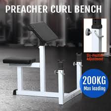 Loading Bench Amazon Com Yaheetech Fitness Preacher Arm Curl Adjustable Weight