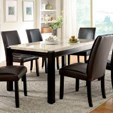 furniture of america joreth genuine marble top dining table free