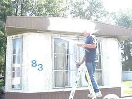 Mobile Home Exterior Makeover by Painting Mobile Home Exterior How To Spray Paint Your Mobile Home