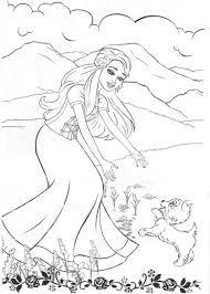 mermaid barbie coloring pages