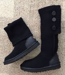 black sweater boots ugg womens size 8 cardy black sweater boots