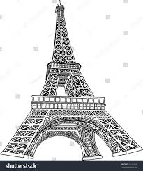 3d eiffel tower coloring book illustration stock vector 161423558