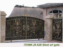 professional manufacturing steel sliding gates in fencing trellis