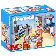 cuisine playmobile playmobil 4283 cuisine équipée achat vente univers miniature