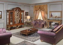 louis xvi style living room glass showcase sofa and armchair