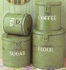 vintage kitchen canisters sets green tin vintage search home