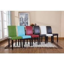 Shop For UrbanStyle Solid Wood Leatherette Padded Parson Chair - Dining room chairs overstock