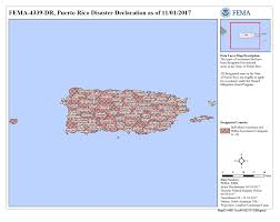 Map Puerto Rico Puerto Rico Hurricane Maria Dr 4339 Fema Gov