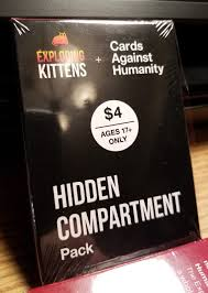 cards against humanity for sale exploding kittens cards against humanity compartment pack