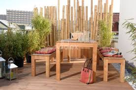 balkon bambus sichtschutz bambus wände