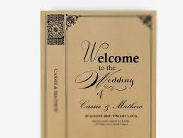 vintage wedding program template wedding program booklet diy editable ms word template vintage