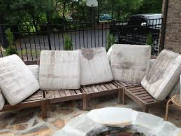 How To Make Pallet Furniture Cushions by How To Rehab An Outdoor Sectional Outdoor Cushions Cleaning