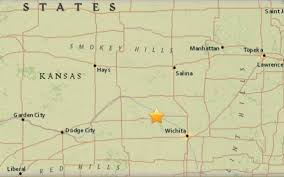 Kansas Counties Map Earthquake Shakes Reno County The Wichita Eagle