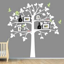 White Tree Wall Decal Nursery Childrens Wall Decals White Tree Wall Decal For Shelf Or
