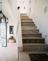 wallpapered stair risers creative stair risers and stenciled stairs