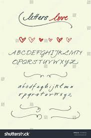 letters love alphabet uppercase lowercase stock vector 137248655