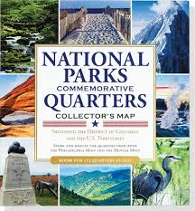 Us National Parks Map National Parks Commemorative Quarters Collector U0027s Map 2010 2021