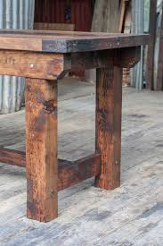rustic industrial vintage style timber work bench or desk kitchen
