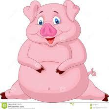 fat pig cartoon stock images image 34612754