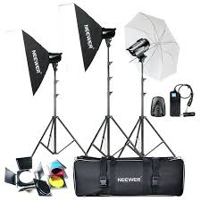 photography strobe lights for sale neewer photography 304 led studio lighting kit flash strobe light