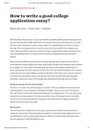 How To Write A Perfect by How To Write A Good College Application Essay U2014 Www Quickessaywriter U2026
