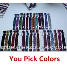 pop bands hair glitter hair tie glitter elastic hair band hair rope wrist