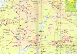 Tanzania Map Vector Maps U2014 Tanzania Tourism