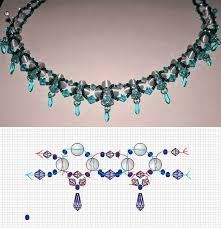 necklace patterns with beads images Free bead necklace pattern pinteres jpg