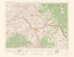 Elevation Map Of United States by Old Topographical Map Pullman Washington Idaho 1963