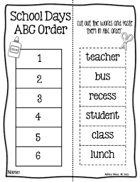 Abc Practice Worksheets For Kindergarten Glamorous Introducing Abc Order To Littles Just Reed S Photocito