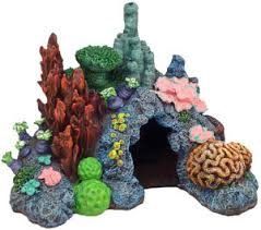 environments caribbean living reef aquarium ornament pets