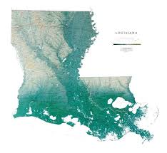 louisiana geographical map wall map of louisiana physical map of louisiana