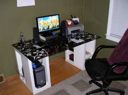 Gamer Computer Desk Garage Not But It Does Job Just An Ignore Trash Andempty Glasses