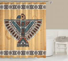 Southwest Shower Curtains Tribal Shower Curtain Contemporary Bathroom Codysloft On Zibbet