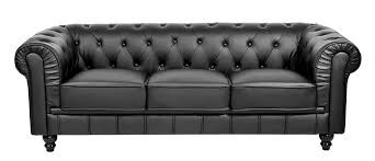 canapé chesterfield noir deco in ensemble canape 3 2 1 places noir chesterfield
