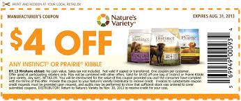 food coupons printable instinct dog food coupons