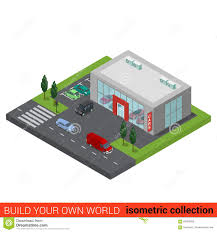 flat isometric auto car dealership sale building stock photo royalty free stock photo download flat isometric auto car dealership
