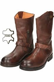 womens brown leather motorcycle boots hudson brown mid calf flat leather biker boots women u0027s shoes