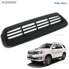 matte black vent hood scoop cover for toyota fortuner suv 2wd 4wd