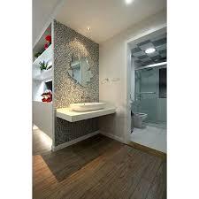 Mosaic Bathroom Mirror Crackle Mosaic Silver Plating Glass Tile