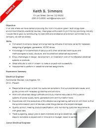 sample electrical resume electrical engineer resume sample sample