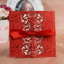 Red Wedding Invitations Aliexpress Com Buy Free Print 50pcs Lot Lace Laser Cut Red