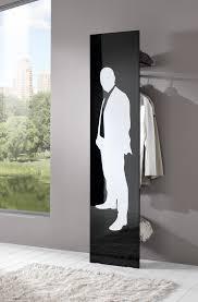 porte manteau chambre portemanteau design laqué noir sérigraphie blanche mat klaus