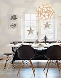 home decorating dining room scandinavian style with globe pendant