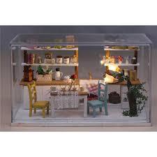 Dollhouse Kitchen Furniture Kit Dollhouse Crystall Room Sweet Kitchen