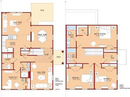 Small 4 Bedroom Floor Plans 4 Bedroom House Plans Kerala Modern Story Bhk Plan Images Bungalow