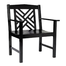 Black Lacquer Dining Room Chairs Shop Achla Designs Black Lacquer Eucalyptus Patio Dining Chair At