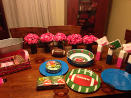 gender reveal party football themed gender party pinterest